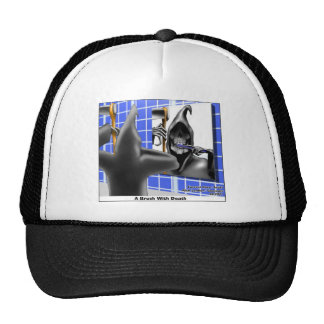 brush W/Death Funny Gifts Tees & Collectibles Mesh Hats