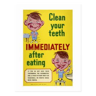 Brush Your Teeth Dental Health Children Postcard