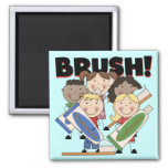 Brush Your Teeth T-shirts and Gifts Magnet