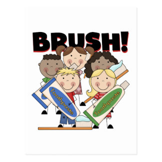 Brush Your Teeth T-shirts and Gifts Postcard