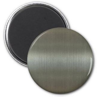 Brushed Aluminum 2 Inch Round Magnet