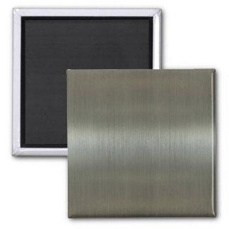 Brushed Aluminum 2 Inch Square Magnet