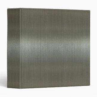 Brushed Aluminum 3 Ring Binder