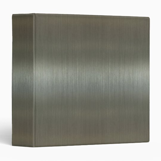 Brushed Aluminum 3 Ring Binder