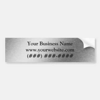Brushed Aluminum Effect Business Bumper Sticker