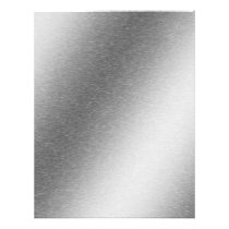 Brushed Aluminum Effect Letterhead Scrapbook Paper