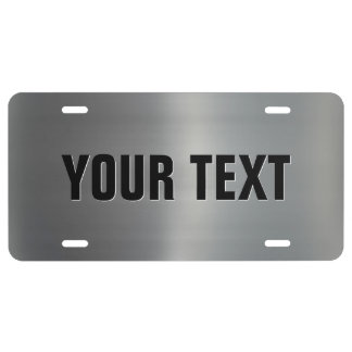 Brushed Aluminum License Plate