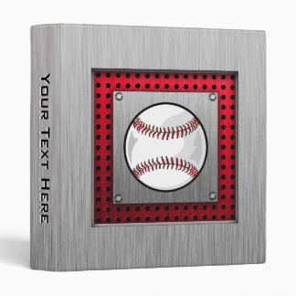 Brushed Aluminum look Baseball Binder