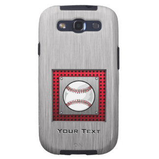 Brushed Aluminum look Baseball Galaxy S3 Case