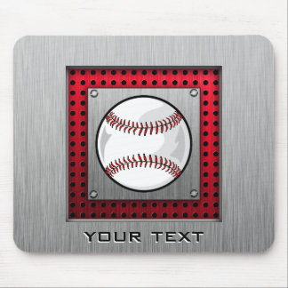 Brushed Aluminum look Baseball Mouse Pad