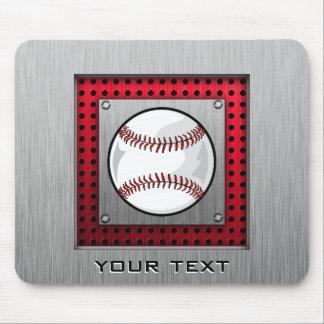 Brushed Aluminum look Baseball Mouse Pads