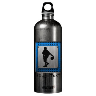 Brushed ALuminum look Basketball Player Aluminum Water Bottle