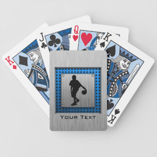 Brushed ALuminum look Basketball Player Bicycle Playing Cards