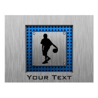 Brushed ALuminum look Basketball Player Postcard