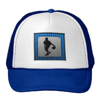 Brushed ALuminum look Basketball Player Trucker Hat