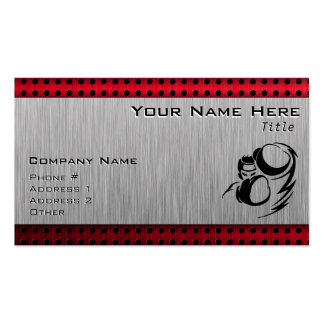 Brushed aluminum look Boxer Double-Sided Standard Business Cards (Pack Of 100)