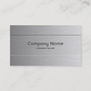 Brushed aluminum business cards zazzle brushed aluminum look business card template colourmoves