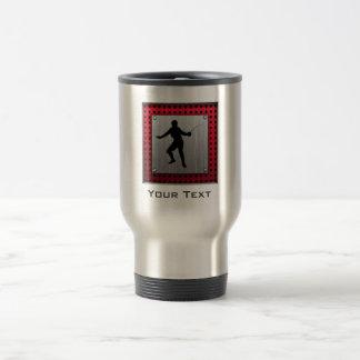 Brushed Aluminum look Fencer 15 Oz Stainless Steel Travel Mug