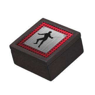 Brushed Aluminum look Fencer Premium Keepsake Boxes