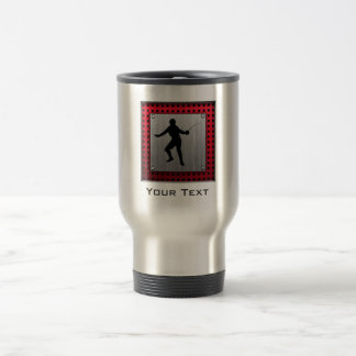 Brushed Aluminum look Fencer Travel Mug