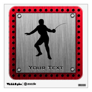 Brushed Aluminum look Fencer Wall Decal
