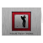 Brushed Aluminum look Golfer Card
