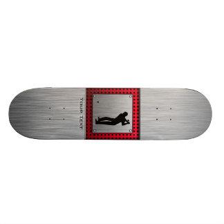 Brushed Aluminum look Golfer Custom Skate Board