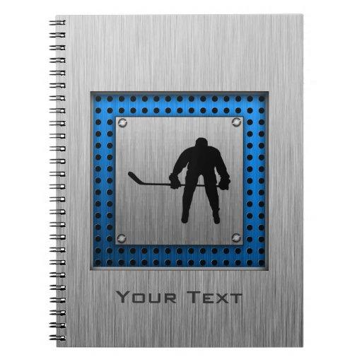 Brushed Aluminum look Hockey Note Book