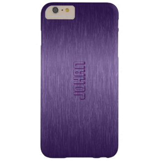 Brushed Aluminum Look Purple Tones Barely There iPhone 6 Plus Case
