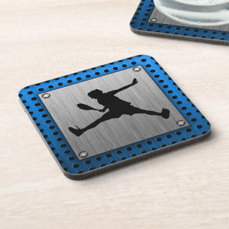 Brushed Aluminum look Tennis Drink Coasters