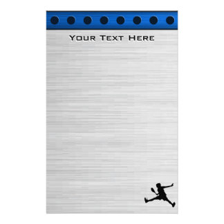 Brushed Aluminum look Tennis Stationery