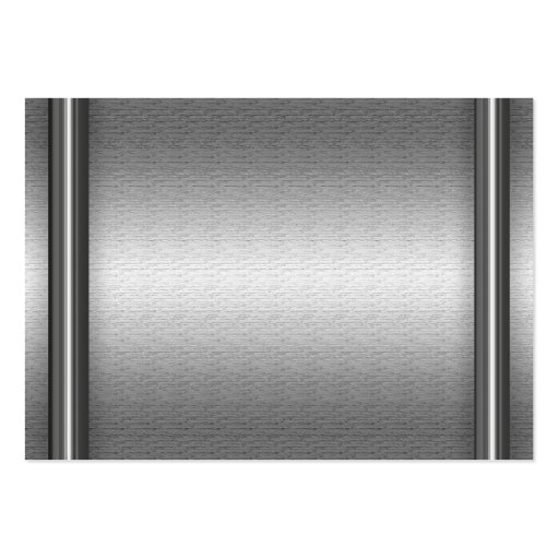 Brushed Aluminum Look With Borders Business Cards