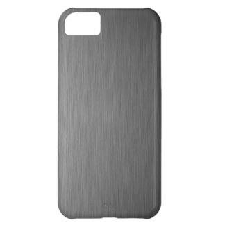 brushed aluminum metal cool finish welding art sur iPhone 5C case
