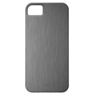 brushed aluminum metal cool finish welding art sur iPhone SE/5/5s case