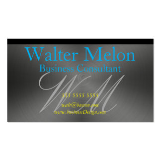 Brushed Aluminum Metal Create Your Own Consultant Business Card