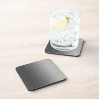Brushed Aluminum Metal Look Beverage Coaster