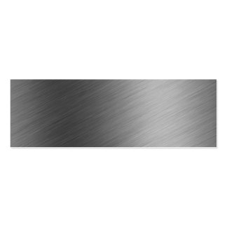 Brushed Aluminum Metal Look Business Cards