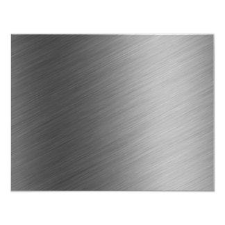 Brushed Aluminum Metal Look Card