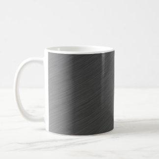 Brushed Aluminum Metal Look Coffee Mug