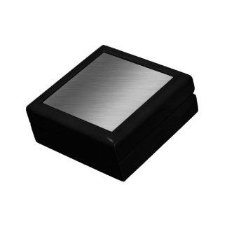 Brushed Aluminum Metal Look Keepsake Box