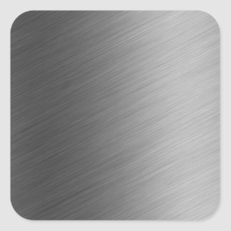 Brushed Aluminum Metal Look Square Sticker