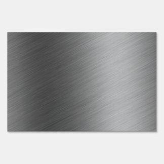 Brushed Aluminum Metal Look Sign