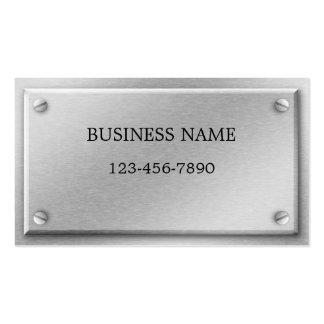 Brushed Aluminum Metal Plate Business Card