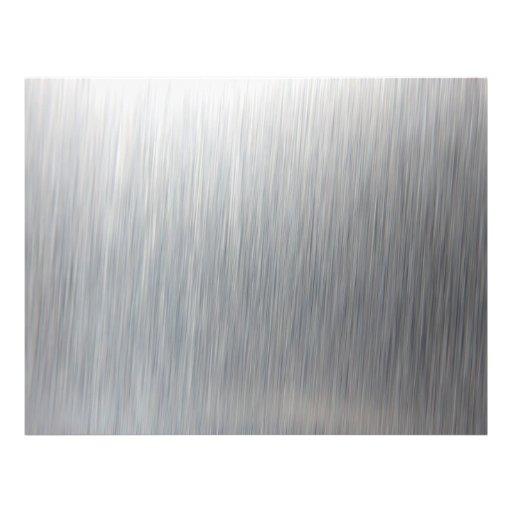 Brushed Aluminum Metallic Textured Flyer Design