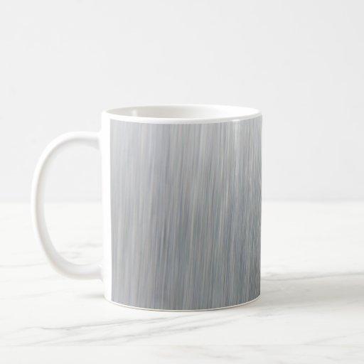 Brushed Aluminum Metallic Textured Classic White Coffee Mug