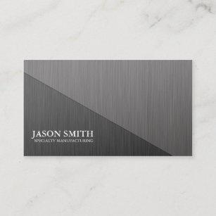 Brushed aluminum business cards zazzle brushed aluminum minimal business card colourmoves