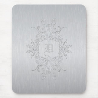 Brushed Aluminum Mouse Pad-Custom Initial Mouse Pad