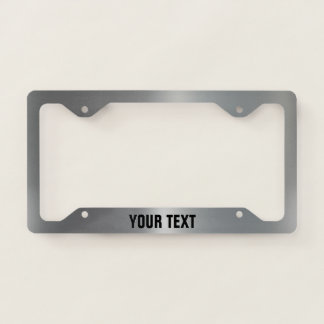 Brushed Aluminum Personalized License Plate Frame