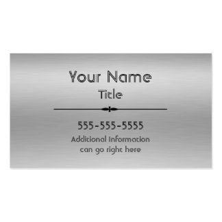 Brushed Aluminum Print Business Cards