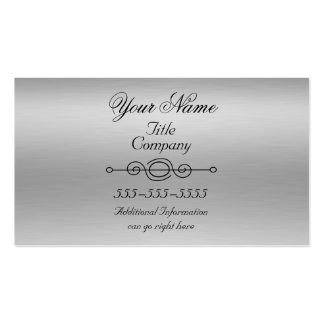 Brushed Aluminum Print Business Cards